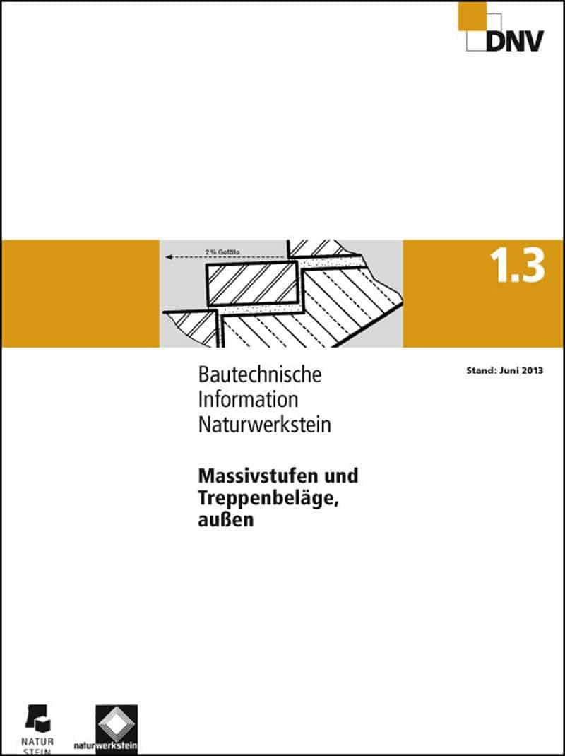 Produkt: DNV BTI 1.3. Massivstufen und Treppenbeläge, außen