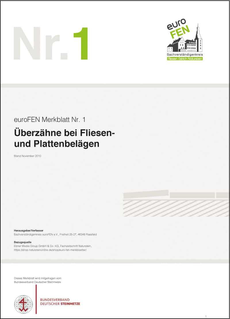 Produkt: euroFEN-Merkblatt Überzähne