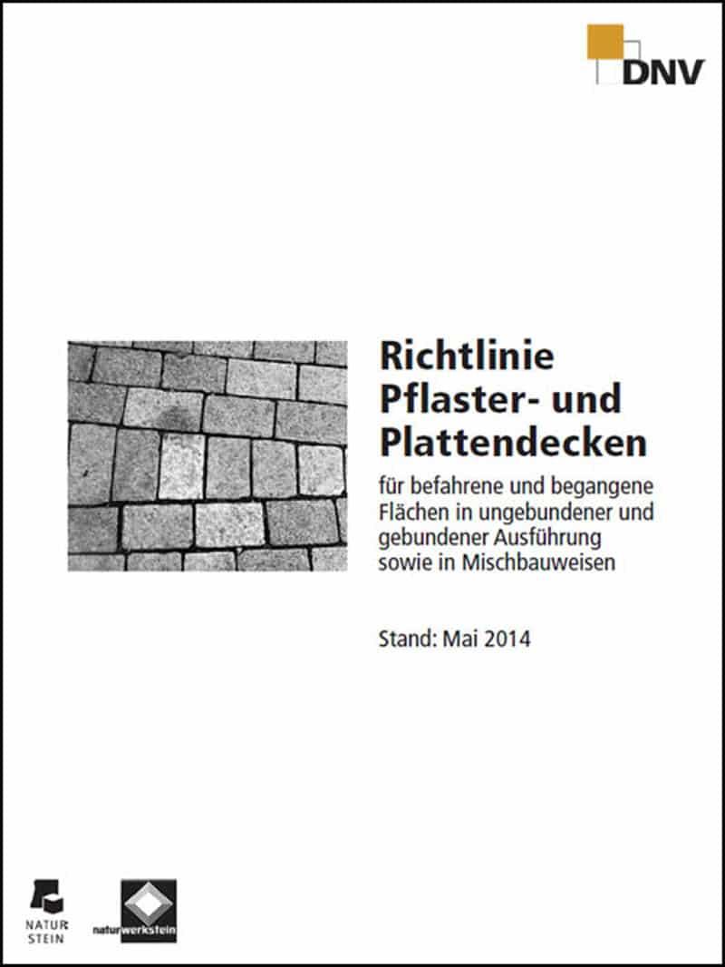 """Produkt: DNV-Richtlinie """"Pflaster- und Plattendecken"""" (Stand: Mai 2014)"""