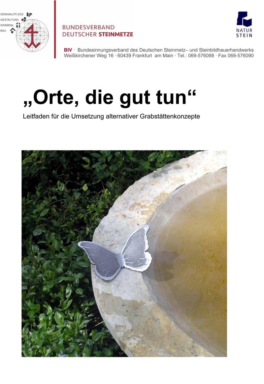 Produkt: Leitfaden für die Umsetzung alternativer Grabstättenkonzepte »Orte, die gut tun«