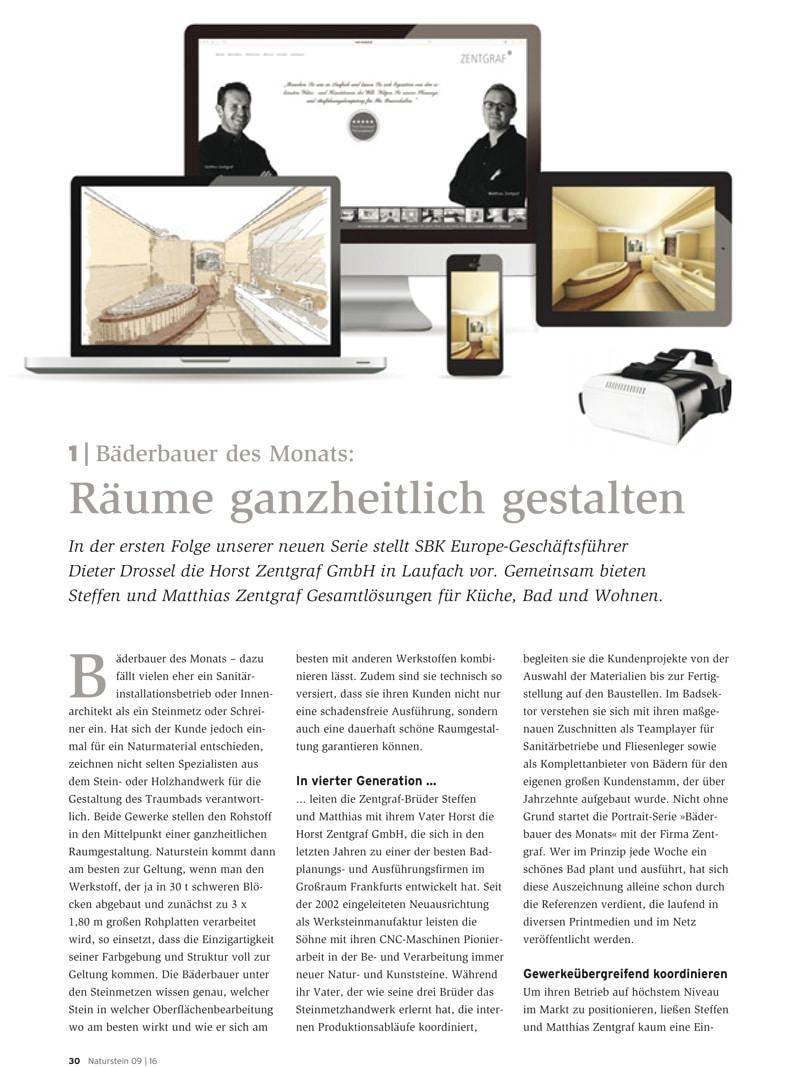 Produkt: Download Bäderbauer des Monats (1): Horst Zentgraf GmbH