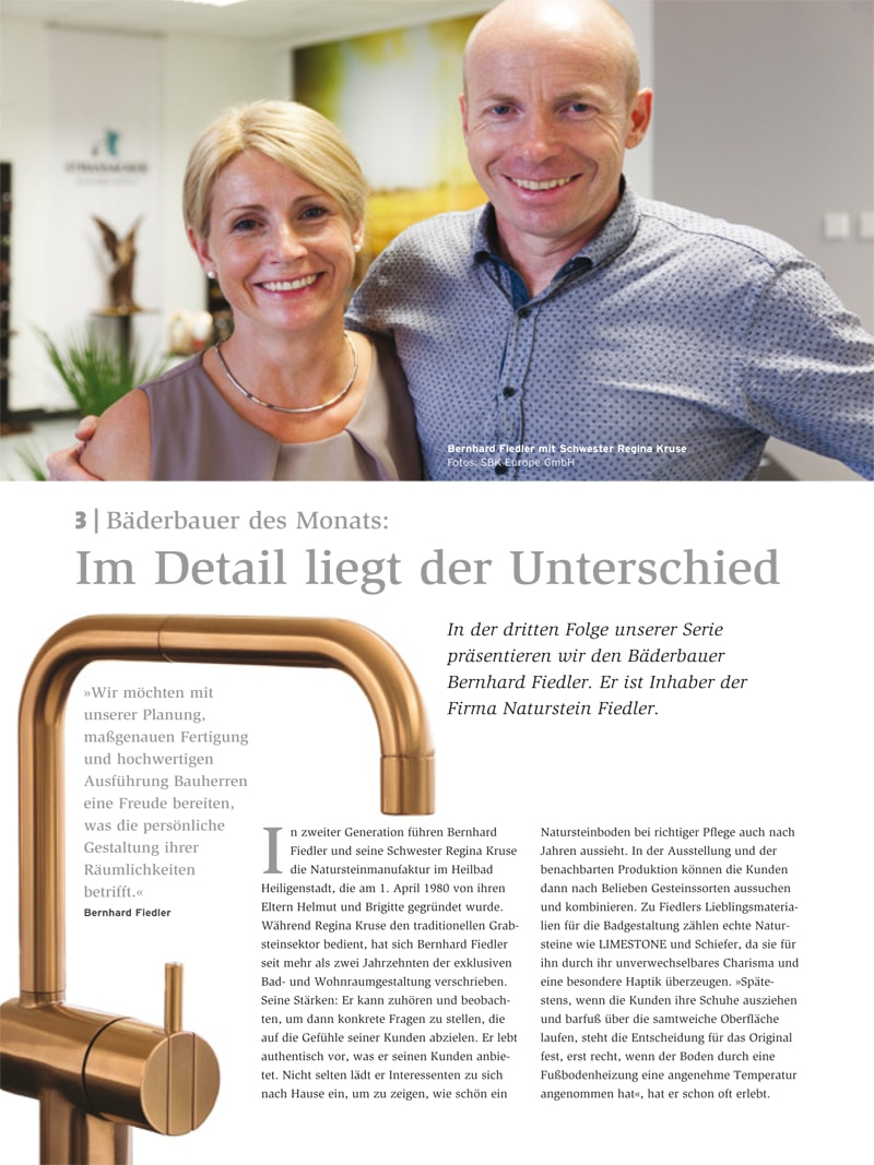 Produkt: Download Bäderbauer des Monats (3): Bernhard Fiedler