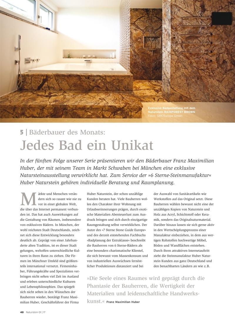 Produkt: Download Bäderbauer des Monats (5): Franz Maximilian Huber