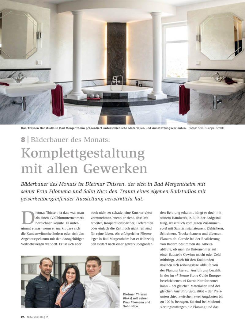 Produkt: Download Bäderbauer des Monats (8): Dietmar Thissen
