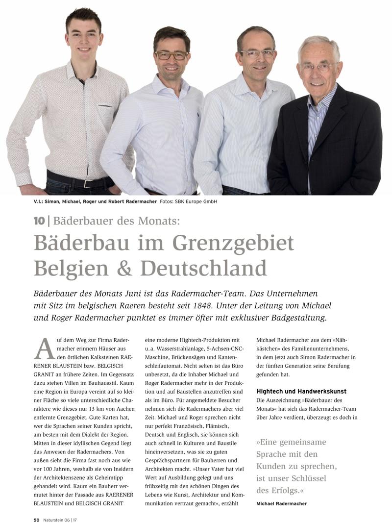 Produkt: Download Bäderbauer des Monats (10): Radermacher AG