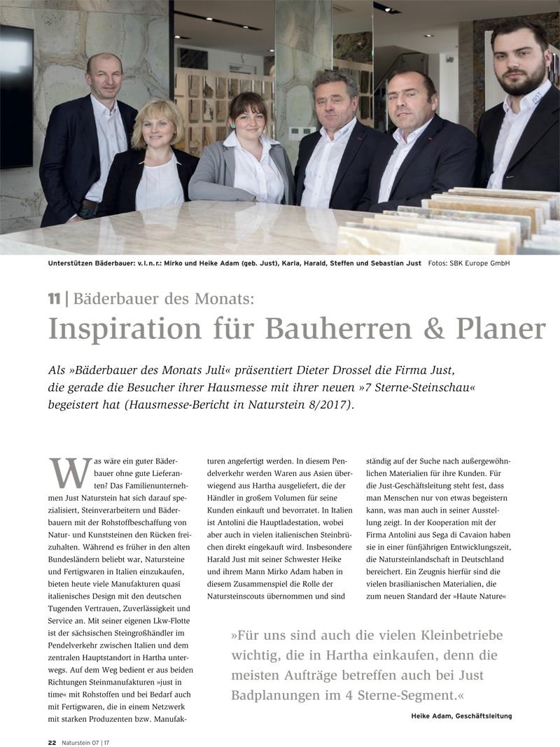 Produkt: Download Bäderbauer des Monats (11): Just Naturstein