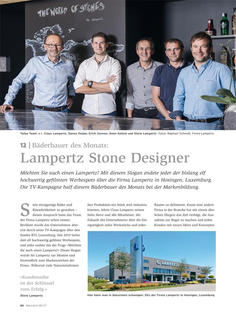 Produkt: Download Bäderbauer des Monats (12): Lampertz Stone Designer