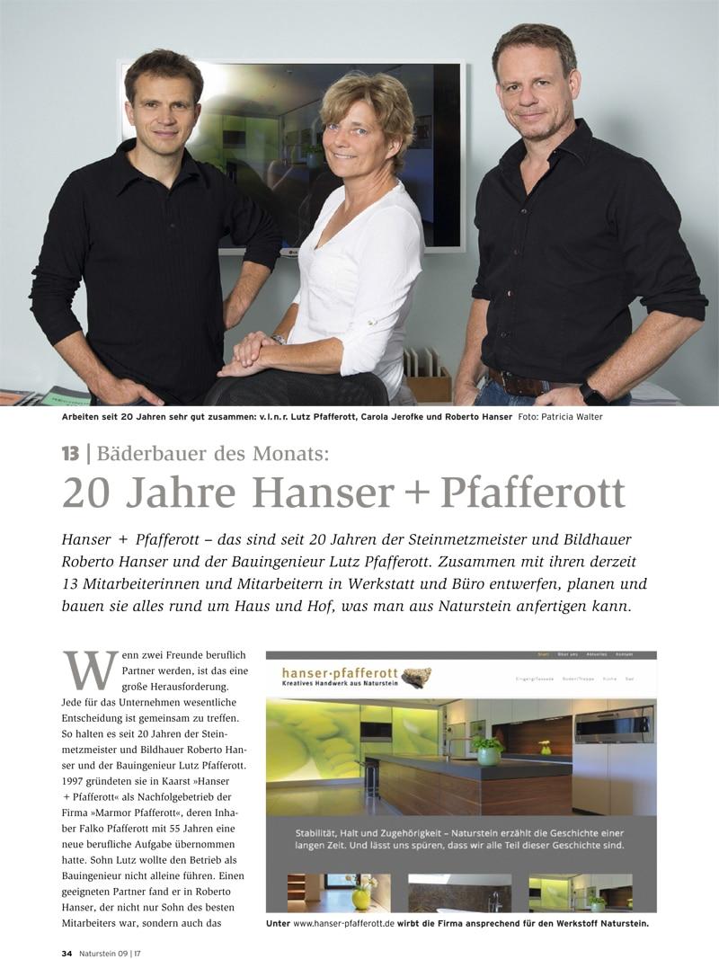 Produkt: Download Bäderbauer des Monats (13): Hanser & Pfafferott