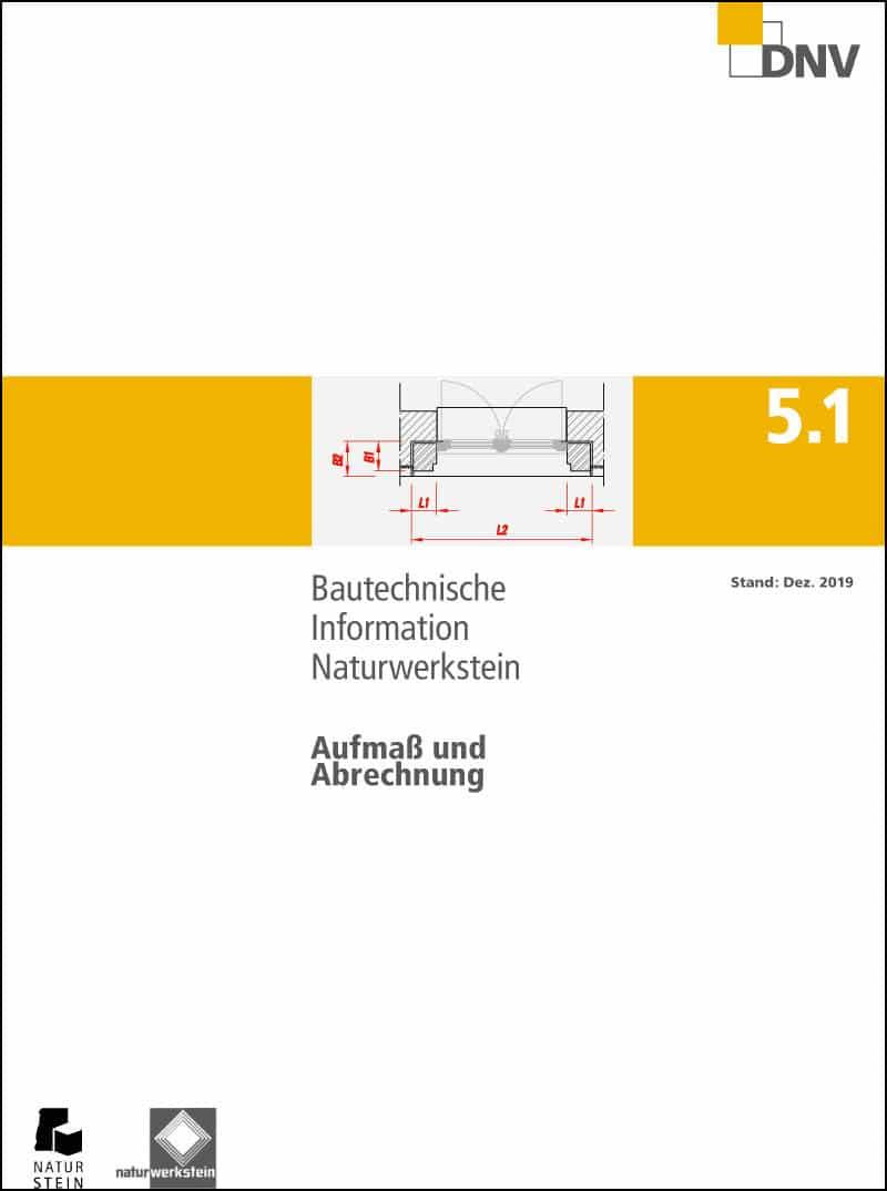Produkt: DNV BTI 5.1 Aufmaß und Abrechnung von Naturwerksteinarbeiten